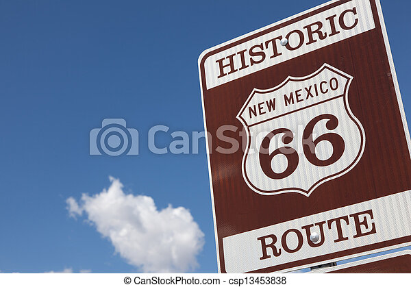 A Historic Route 66 road sign - csp13453838