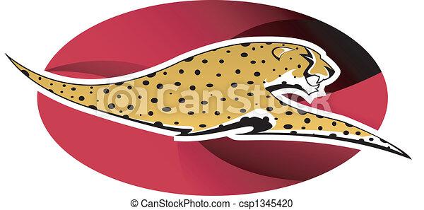 Cheetah logo - csp1345420