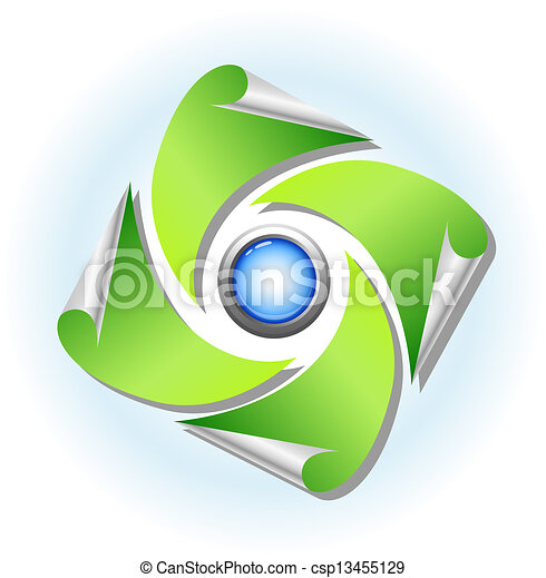 nature and environment icon - csp13455129