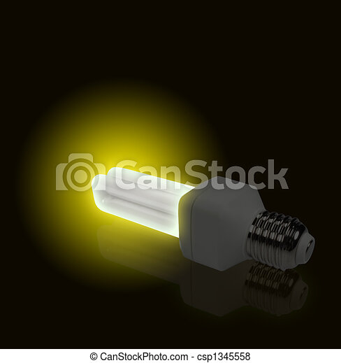 Yellow Light from economical lamp - csp1345558