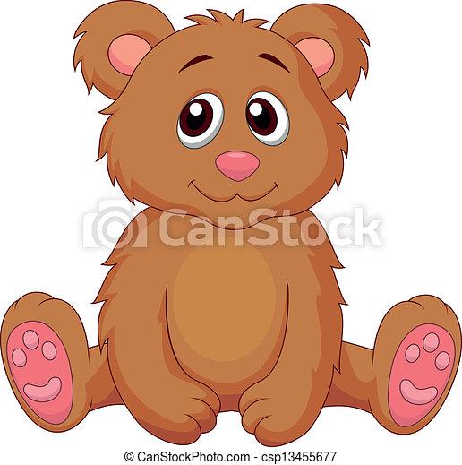 Ilustraciones vectoriales de lindo, bebé, oso, caricatura - vector ...