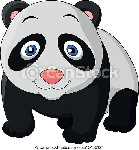 Ilustraciones de Vectores de lindo, bebé, panda, caricatura ...