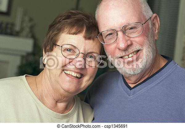 Happy Senior Adult Couple - csp1345691