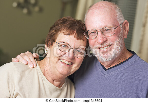 Happy Senior Adult Couple - csp1345694