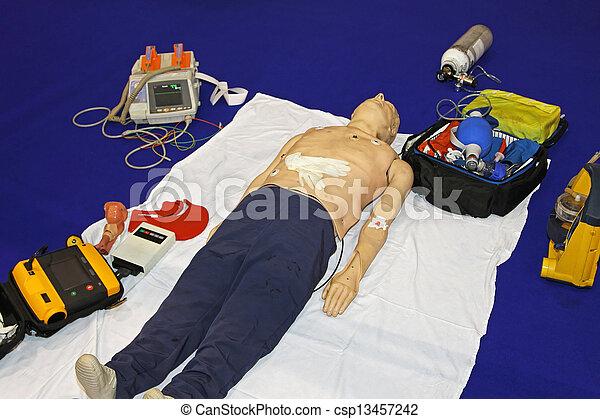 Emergency dummy equipment - csp13457242