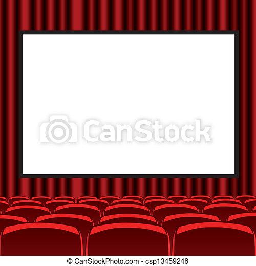 Vetor eps de vermelho sala cinema csp13459248 for Sala de estar 3x5