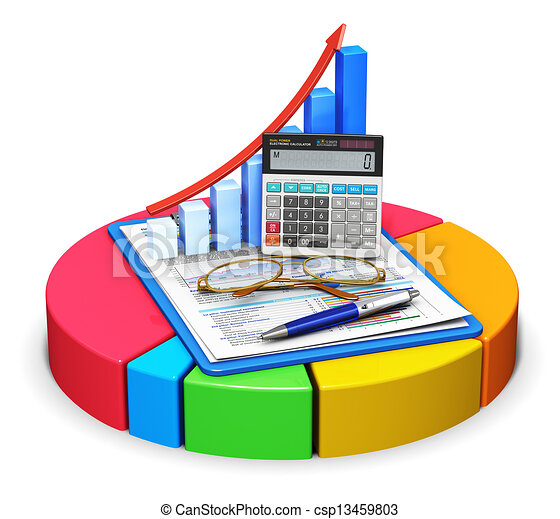 Accounting and statistics concept - csp13459803