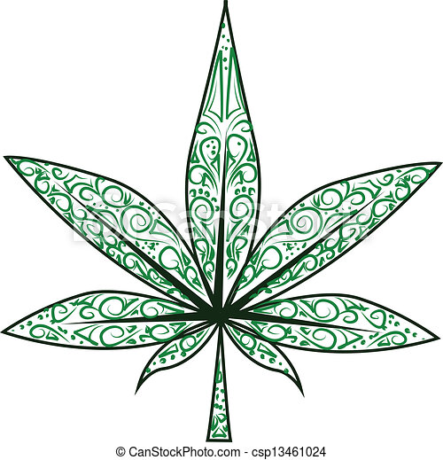 Cool Weed Leaf Drawings Vector marijuana leaf