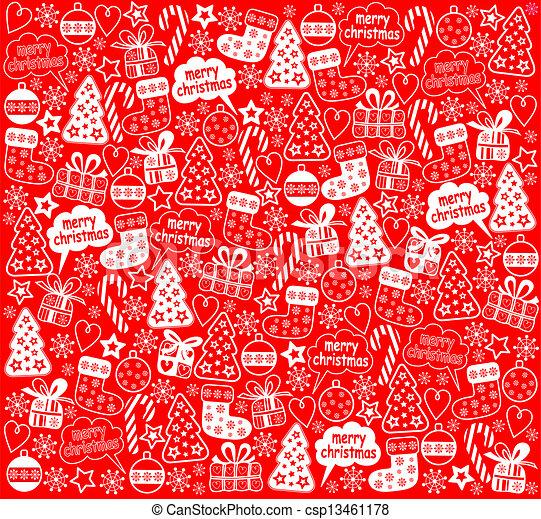 カード クリスマスカード 無料 : クリスマス, 赤, 背景 csp13461178 ...