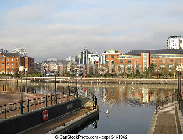 Residential buildings in Salford Quays, Manchester - csp13461362