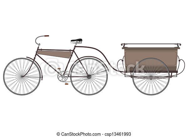 eps vektoren von fahrrad anh nger tr ger fahrrad silhouette auf a csp13461993. Black Bedroom Furniture Sets. Home Design Ideas