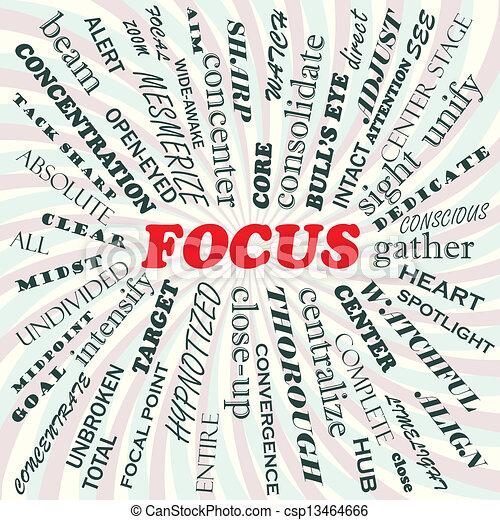 Focus Vector Clipart - Instant Download - csp13464666