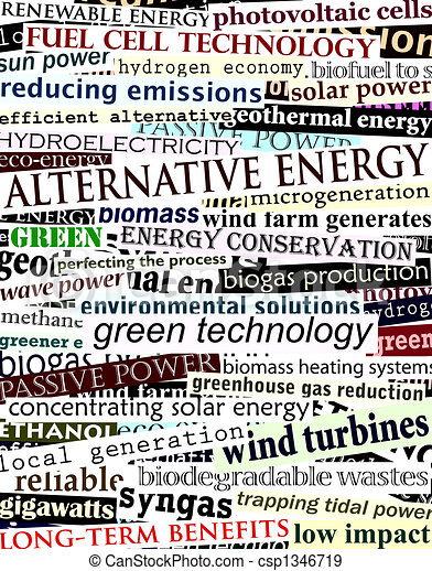 Alternative energy headlines - csp1346719