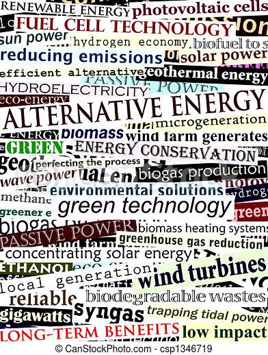 Alternative energy headlines - csp1346719