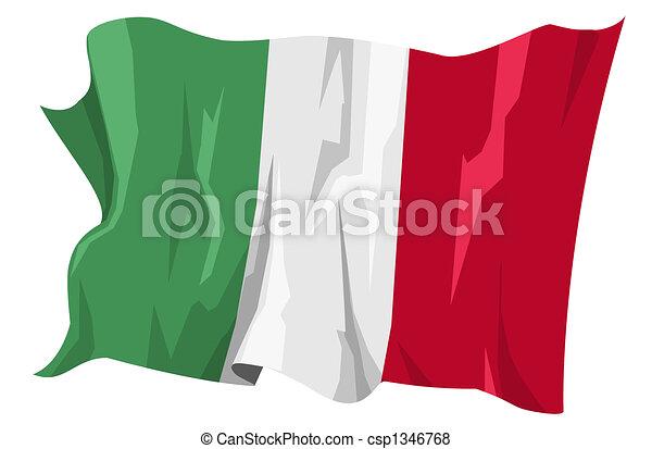 Flag series: Italy - csp1346768