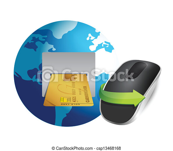 international banking and Wireless computer mouse - csp13468168