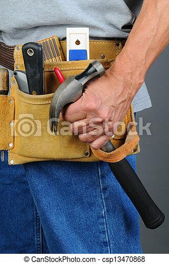 Closeup Contractor Tool Belt - csp13470868
