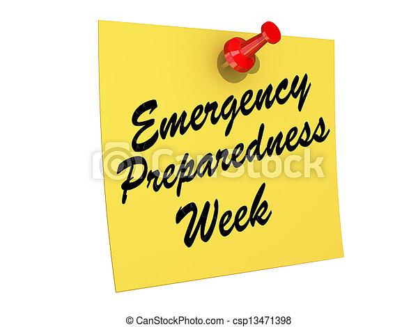 Emergency Preparedness Week - csp13471398