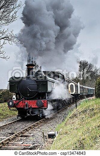 Steam Locomotive - csp13474843