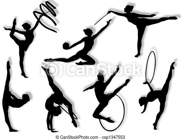 Rhythmic gymnastics exercises - csp1347553