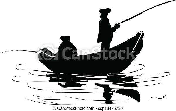 Fishermen in a boat