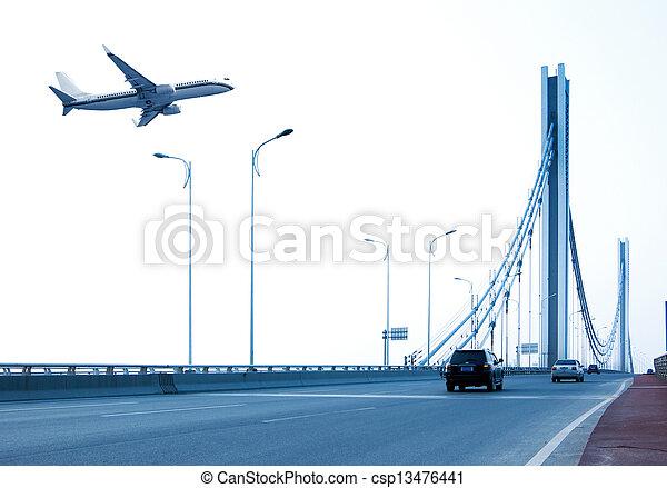 Bridges and aircraft - csp13476441