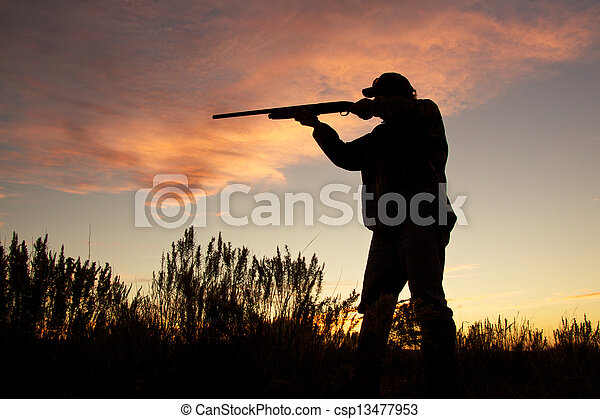 Shooting in the Sunrise - csp13477953