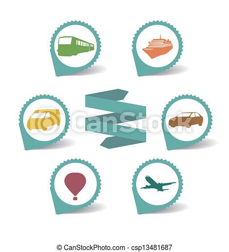 transportation icons  - csp13481687