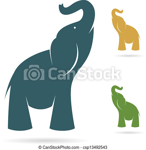Vector image of an elephant - csp13492543