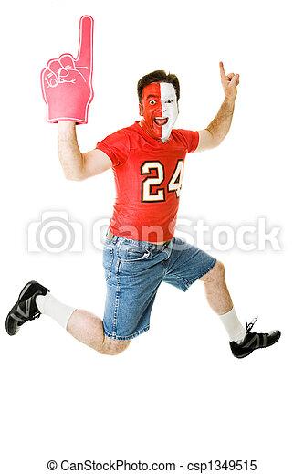 Sports Fan Jumps For Joy - csp1349515