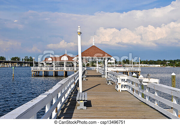 Bradenton Beach Historic Pier - csp13496751