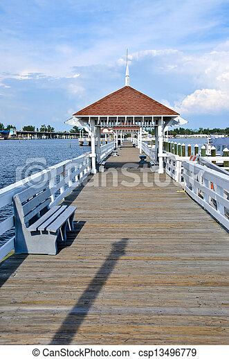 Bradenton Beach Historic Pier - csp13496779