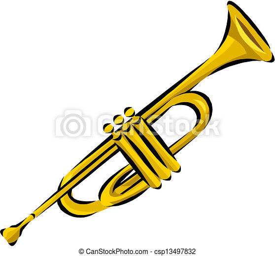 how to draw a cartoon trumpet