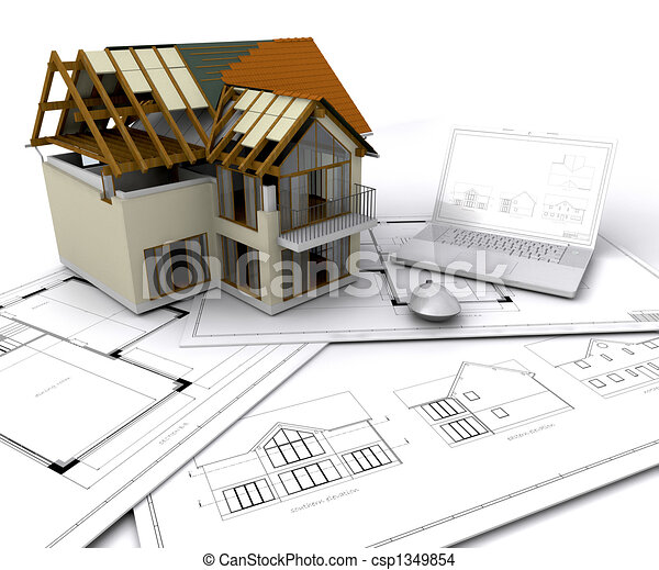 House under construction - csp1349854