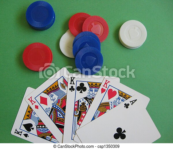 Poker Game - Four of a Kind - csp1350309