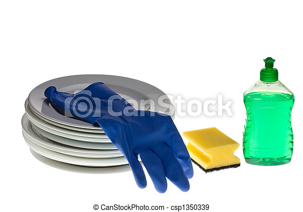 cleaning the dishes - csp1350339