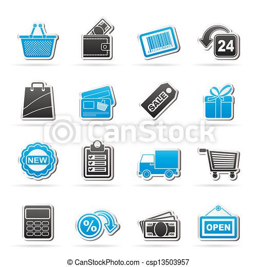 shopping and retail icons - csp13503957