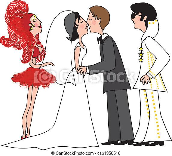 illustration de vegas mariage a pont et palefrenier baisers une csp1350516. Black Bedroom Furniture Sets. Home Design Ideas