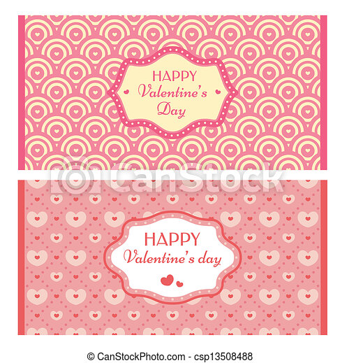 Valentine's day retro cards  - csp13508488