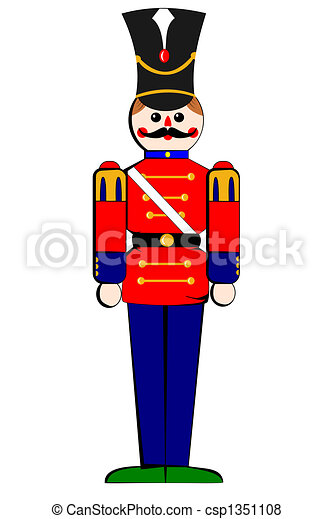 Stock Illustration - Isolated toy wooden soldier - stock illustration
