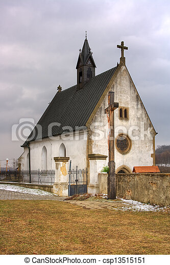 Small church in Velehrad Czech republic - csp13515151