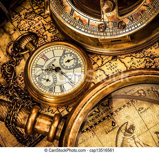 Antique pocket watch. - csp13516561