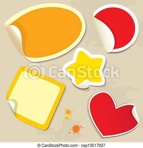 Set of different colors stickers  - csp13517027