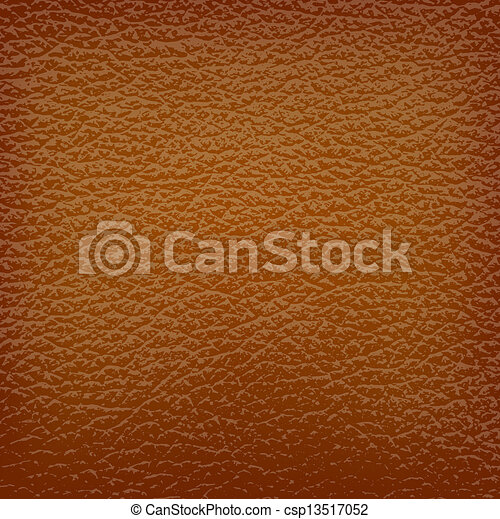 brown leather background. Vector illustration. - csp13517052