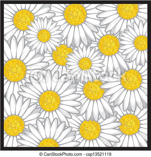 Flower Pattern Drawing Daisy Flower Pattern