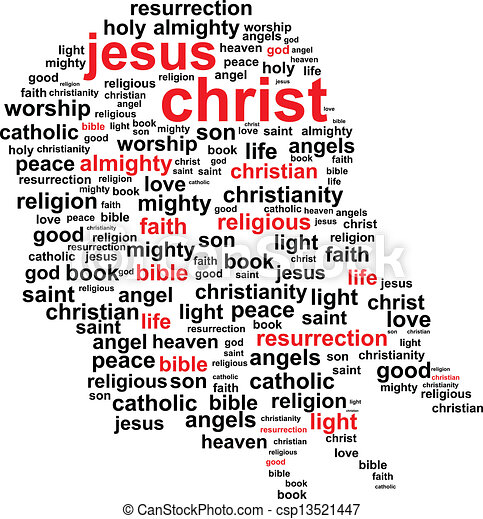 Eps Vector Of Jesus Christ Word Cloud Concept Csp13521447 Search Clip Art Illustration