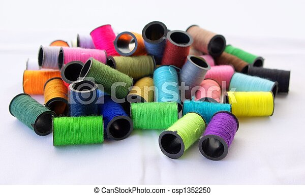 Some threads for sewing of various colors - csp1352250