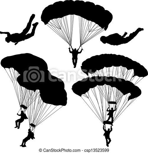 Wektory eps spadochroniarz csp13523599 szukaj kliparty - Dessin parachutiste ...