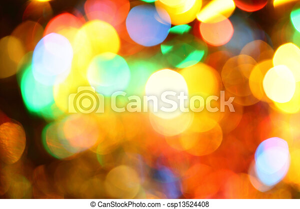 Colorful holiday illumination - csp13524408