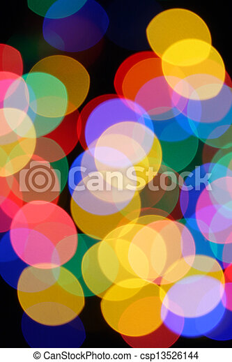 Colorful holiday lights - csp13526144